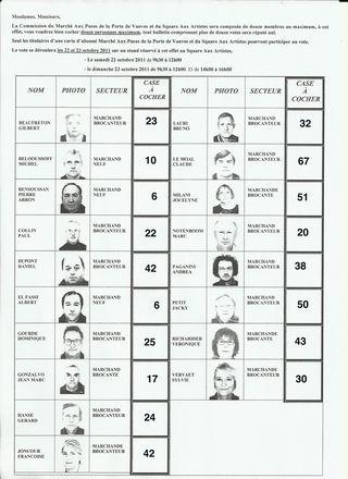 Puces de Vanves Résultats Élections 2011